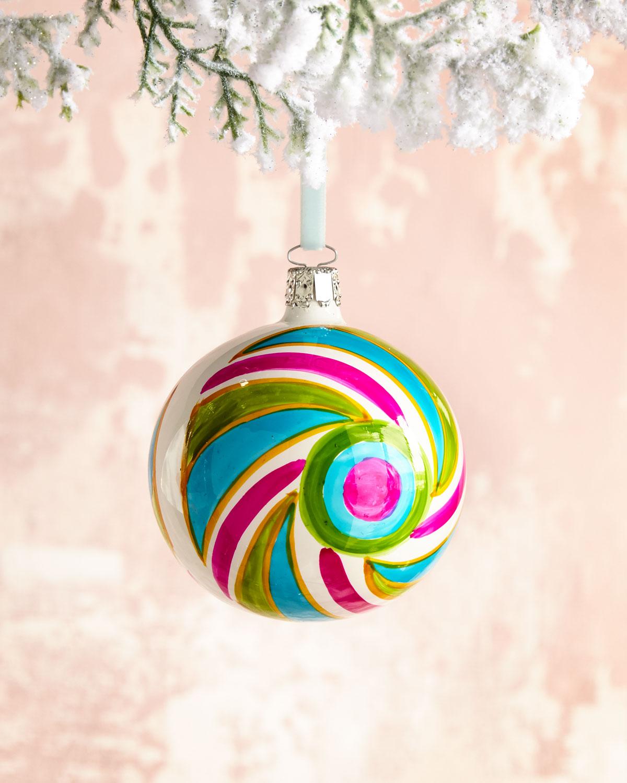Bright Opal Ball Christmas Ornament, 3.15
