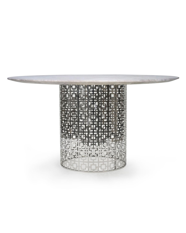 Nixon Dining Table MarbleNickel