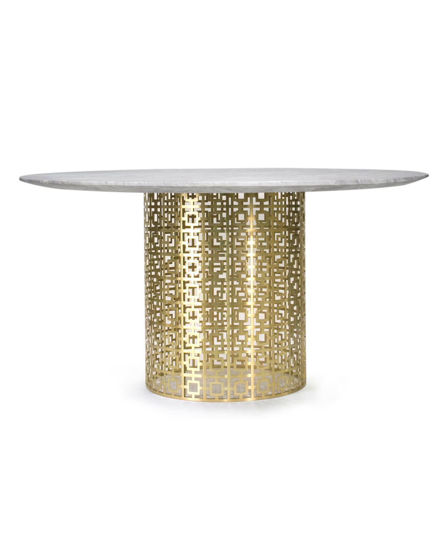 Nixon Dining Table MarbleBrass