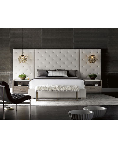 Parigi Tufted King Bed