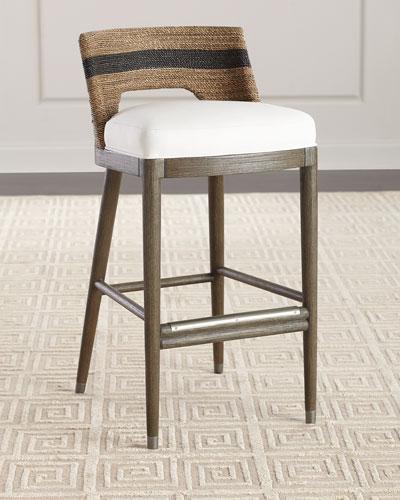 Marvelous Wood Frame Bar Stool Neiman Marcus Beatyapartments Chair Design Images Beatyapartmentscom