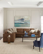 Bernhardt Ellington Leather 4-Piece Sectional