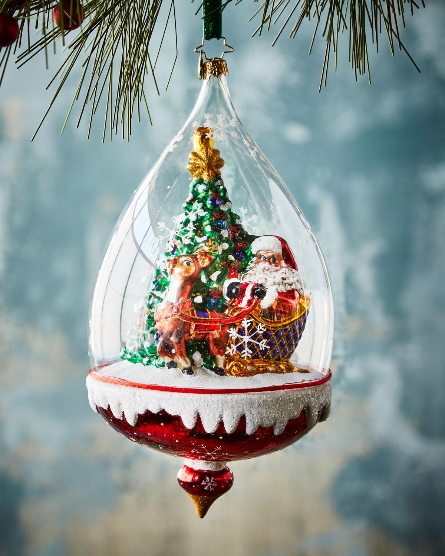 Clear Sledding Ahead Christmas Ornament