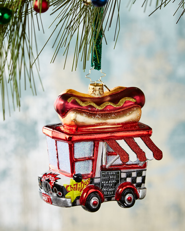 Hot Diggity Dog Christmas Ornament