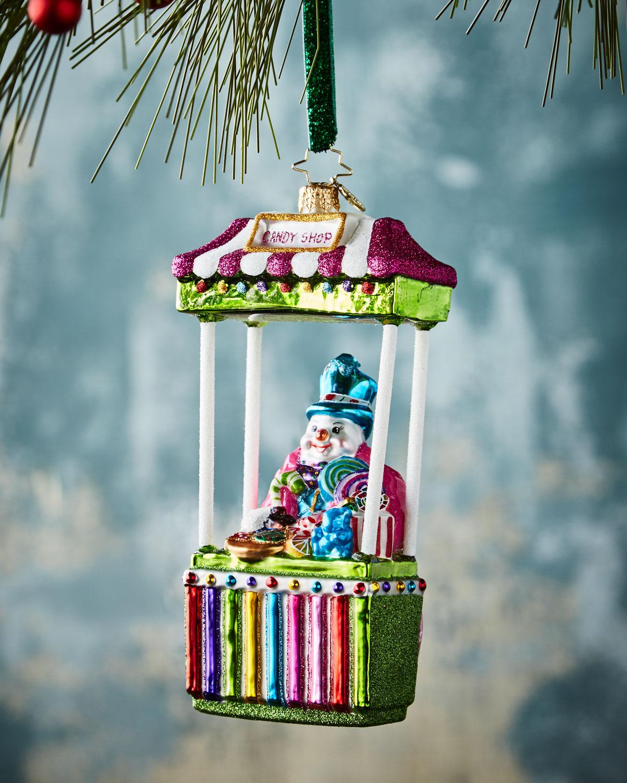 Candy Man Fan Christmas Ornament
