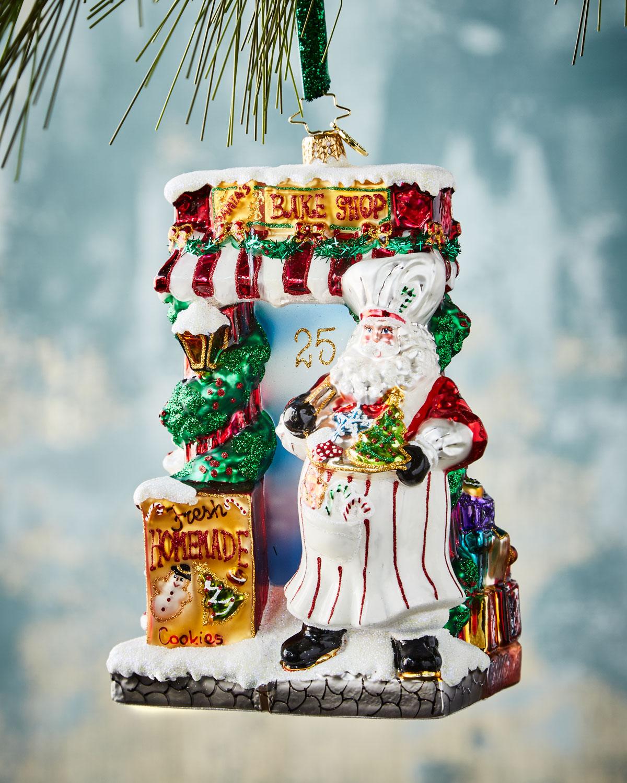 Santa Bakery Christmas Ornament