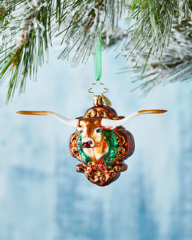 Longhorn Holiday Ornament