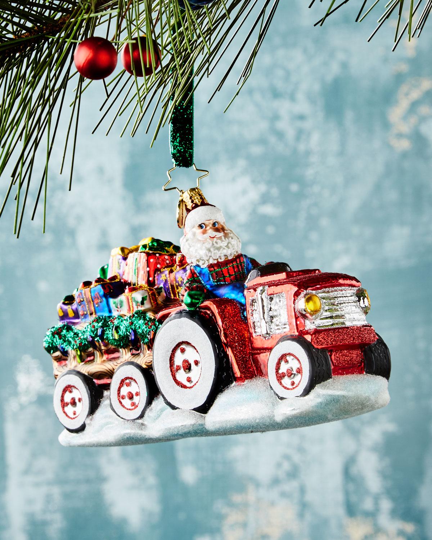 Tractor O' Toys Christmas Ornament