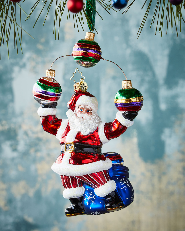 Jolly Juggler Christmas Ornament