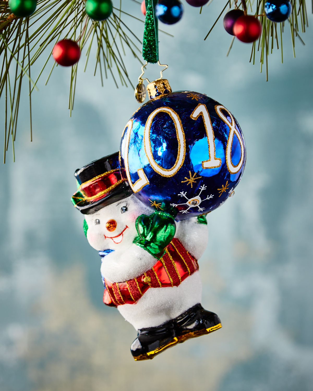 2018 Was a Ball Snowman Ornament