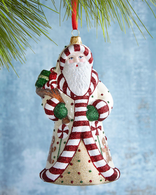 Candy Santa Ornament