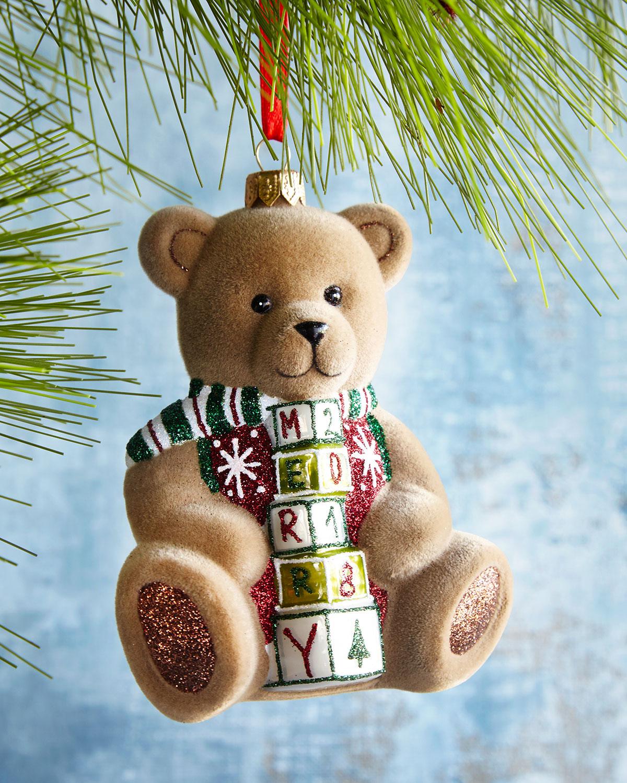 2018 Cuddly Bear Christmas Ornament