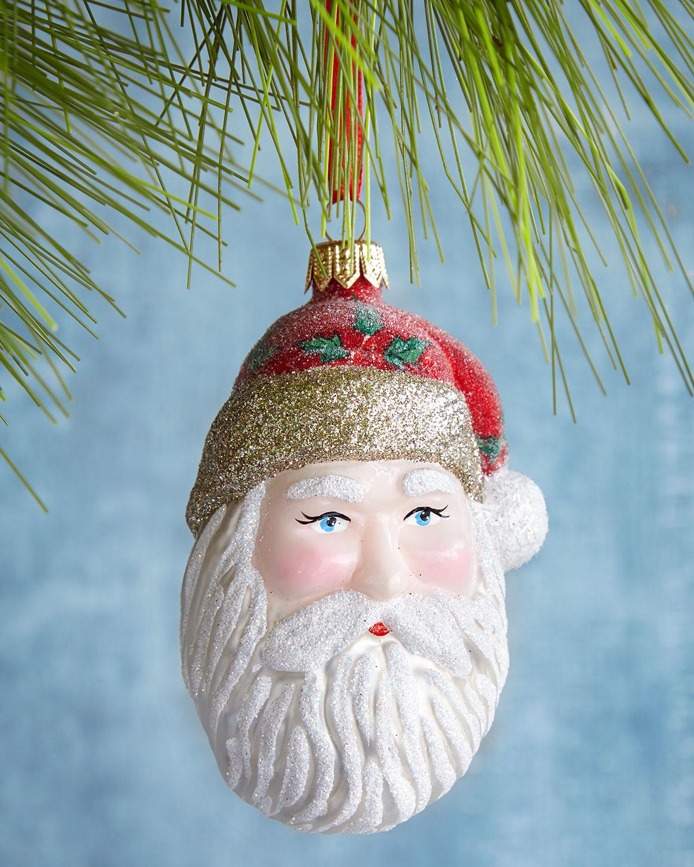 Mr. Claus Glass Ornament