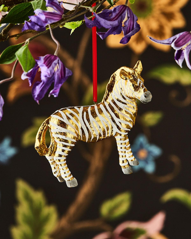 Fantastical Zebra Christmas Ornament