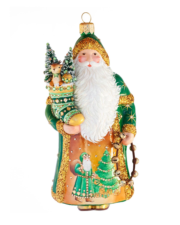 Amato Claus Glass Christmas Ornament