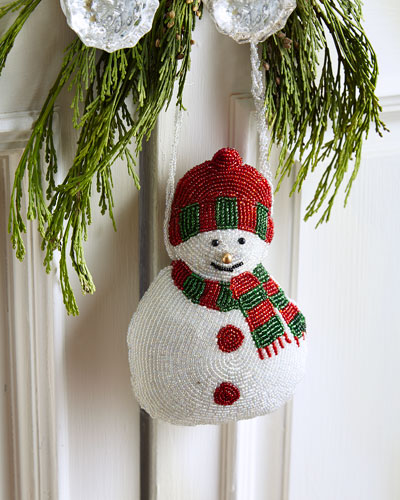 Beaded Snowman Door Knocker