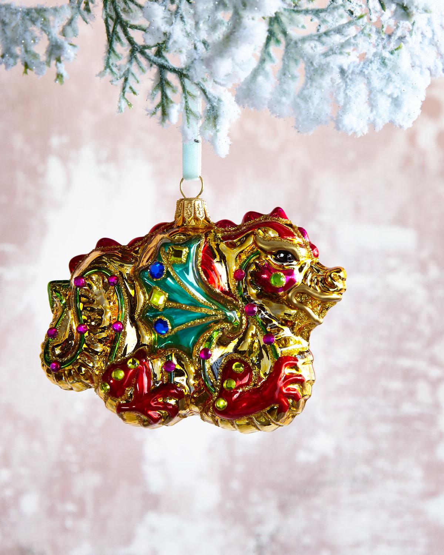 Jewelry Dragon Christmas Ornament