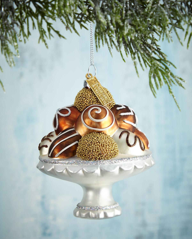 Chocolate Bonbon Plate Christmas Ornament