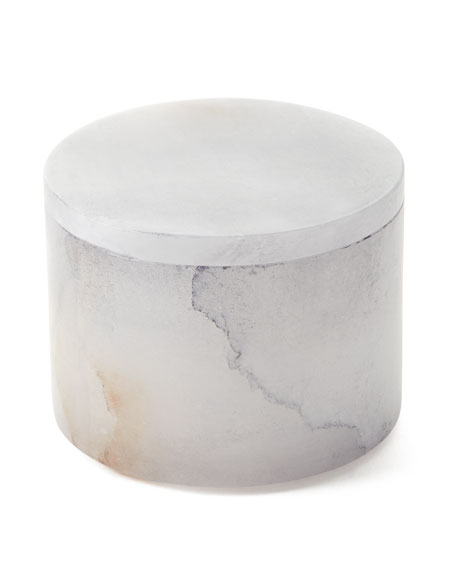 Kassatex Alabaster Bath Accessory Cotton-Swab Jar