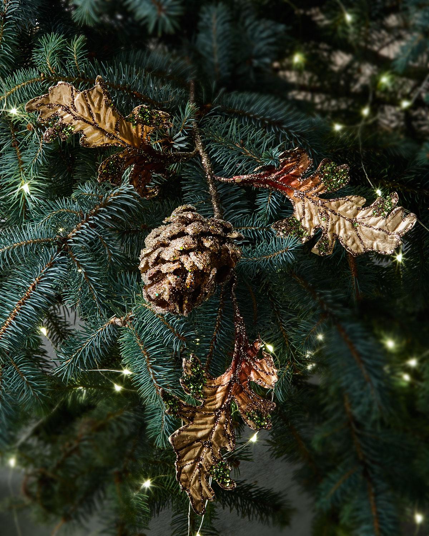 Fantasy Pinecone Pick Christmas Ornament