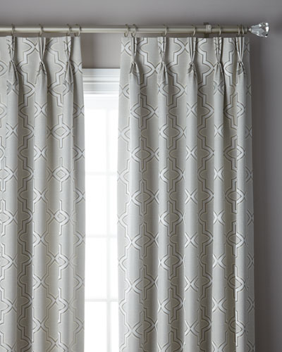 3-Fold Pinch Pleat Trellis Curtain, 108