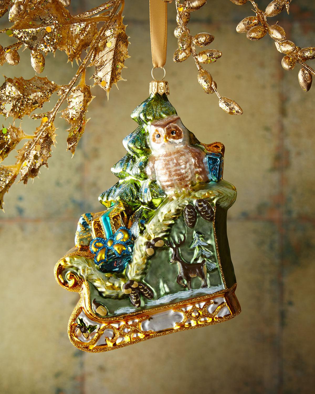 Sleigh Christmas Ornament