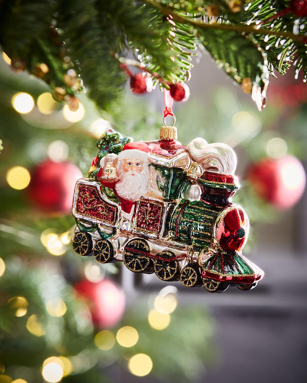 Train-Riding Santa Christmas Ornament