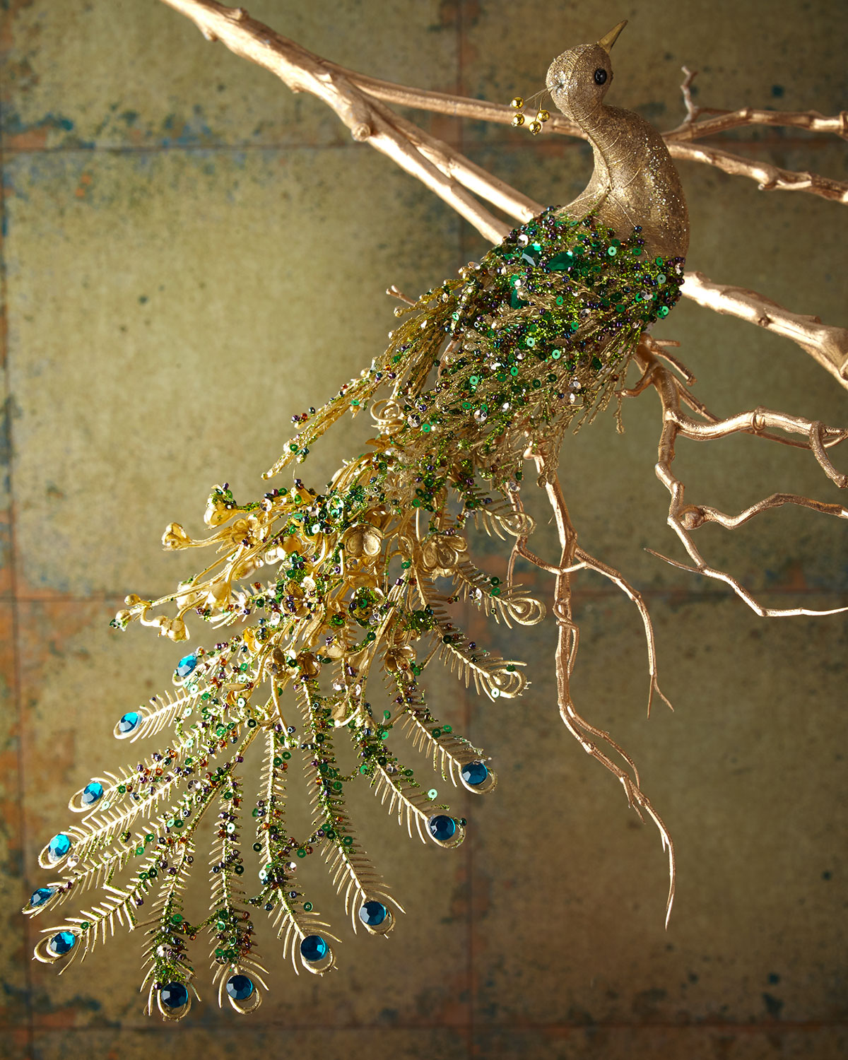 Peacock Christmas Ornament, 14