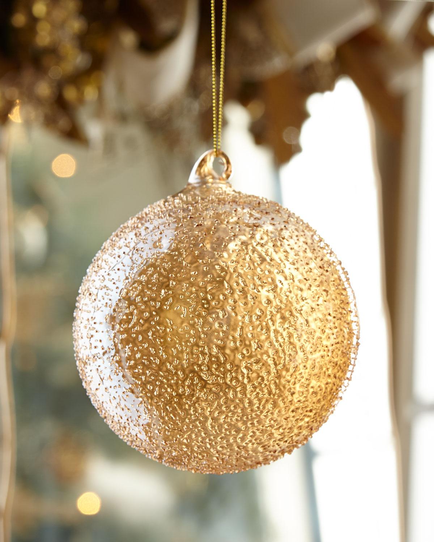 Glass Beaded Ball Christmas Ornament