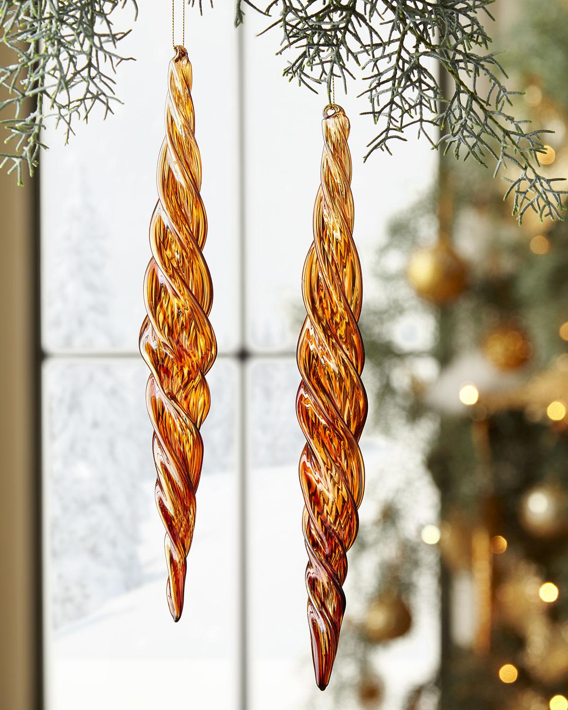 Glass Beaded Icicle Christmas Ornament