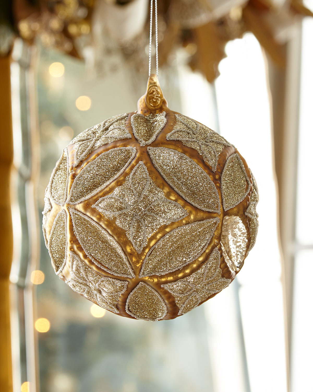 Large Medallion Ball Christmas Ornament