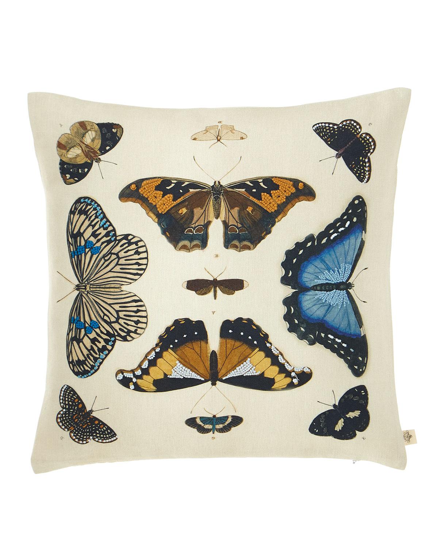 Mirrored Butterflies Decorative Pillow
