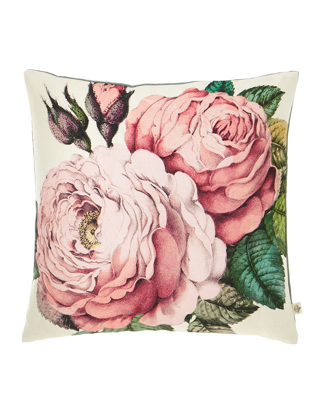 Rose Tuberose Decorative Pillow