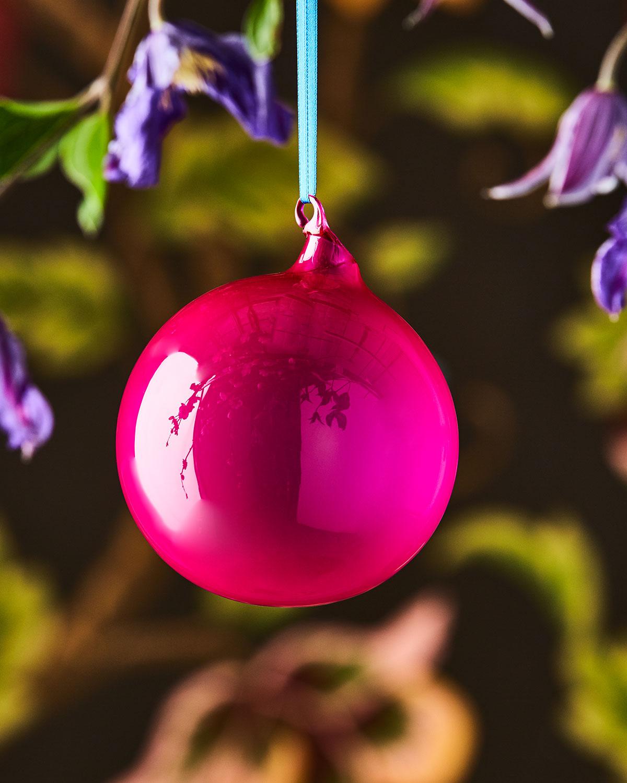 Bubblegum Glass Ball Ornament