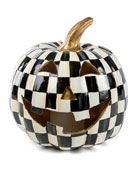 MacKenzie-Childs Courtly Check Illuminated Jack-O'-Lantern