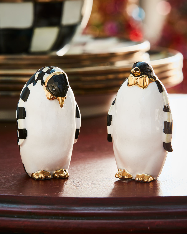 Courtly Check Penguin Salt & Pepper Shakers