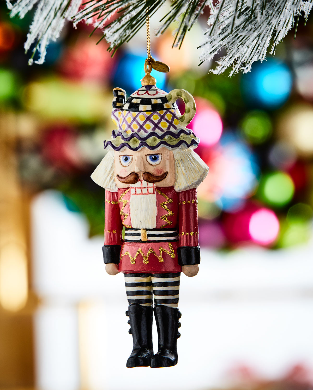 Tea Time Nutcracker Christmas Ornament