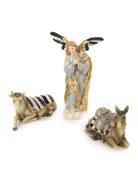 MacKenzie-Childs Silver Lining Angel & Animal Nativity Figurines,