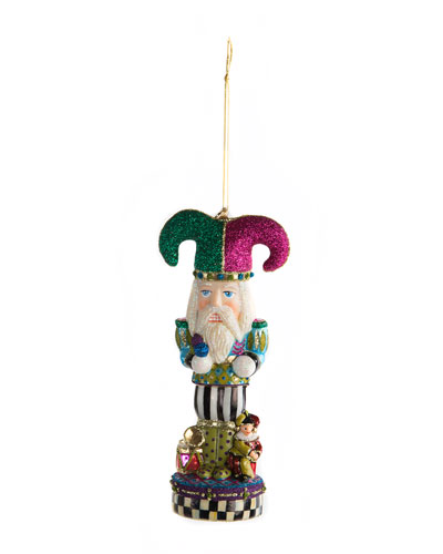 quick look mackenzie childs bijou nutcracker glass christmas ornament - Nutcracker Christmas Ornaments