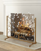 Crystal Fireplace Screen