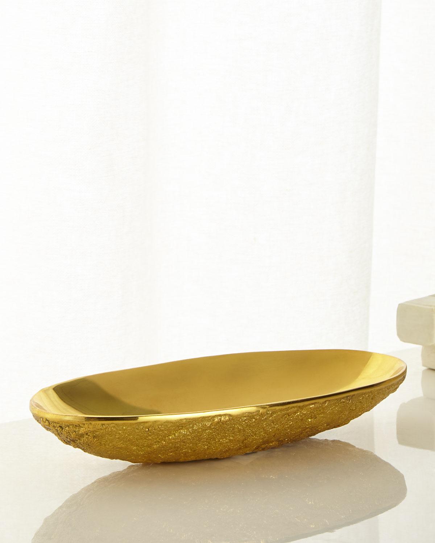 Medium Brutalist Brass Bowl