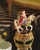 Jay Strongwater Santa Equestrian Musical Figurine