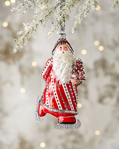 Skating Claus Ornament