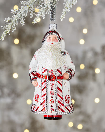 Ornaments Vintage Christmas Ornament Santa Claus Tree Decorations Stand Long Beard New Regular Tea Drinking Improves Your Health Decorative Collectibles