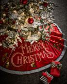 MacKenzie-Childs Merry Christmas Stocking and Matching Items &