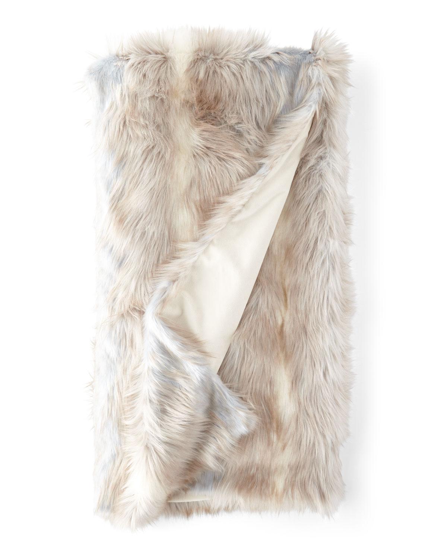 Faux Siberian Fox Throw Blanket