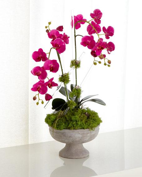 John-Richard Collection Crystal Orchids Faux Floral Arrangement
