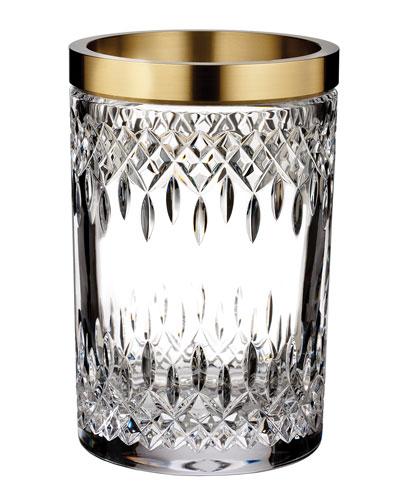Lismore Reflections Gold Band Vase, 8