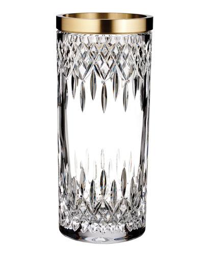Lismore Reflections Gold Band Vase, 12
