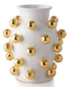 Dolfi Small Vase with Golden Spheres and Matching